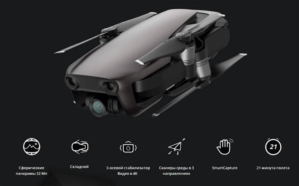 Квадрокоптер DJI Mavic Air Combo